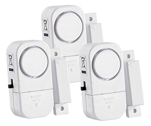 VisorTech 3er-Set Mini-Tür- und Fensteralarm