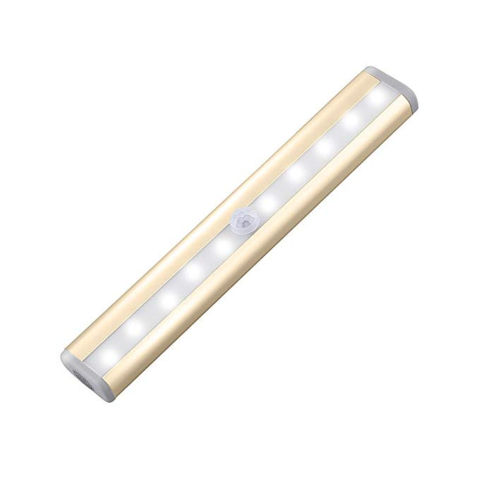 Amytech 10 LED Schranklicht mit PIR Sensor