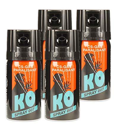 KO Spray 007 CS-GAS PARALISANT