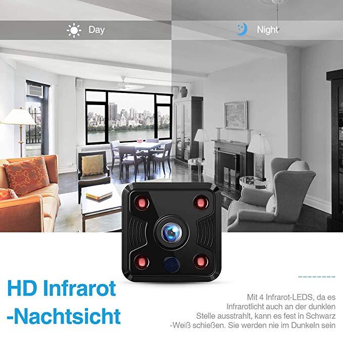 no name fredi wlan hd 1080p mini berwachungskamera nanny test 2019 2020. Black Bedroom Furniture Sets. Home Design Ideas