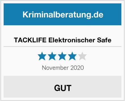 TACKLIFE Elektronischer Safe Test
