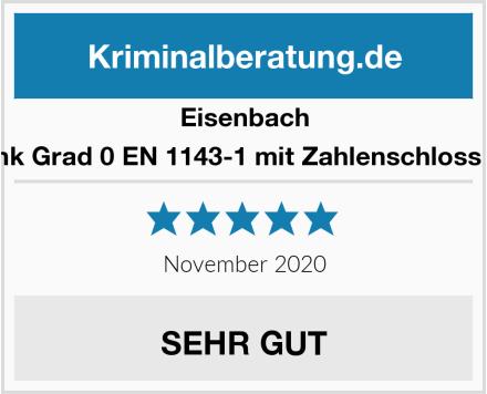 Eisenbach Waffenschrank Grad 0 EN 1143-1 mit Zahlenschloss Gun-Safe 0-5 Test
