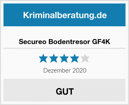 Secureo Bodentresor GF4K Test