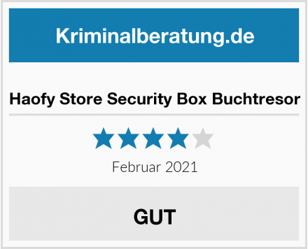Haofy Store Security Box Buchtresor Test