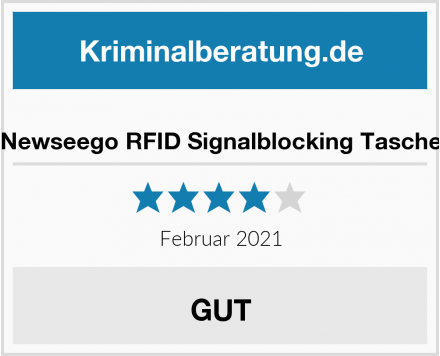 Newseego RFID Signalblocking Tasche Test