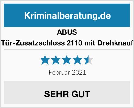 ABUS Tür-Zusatzschloss 2110 mit Drehknauf Test