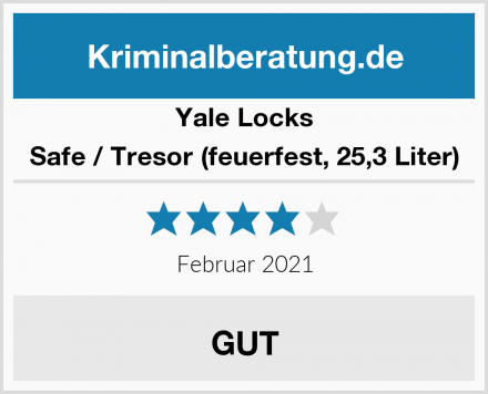 Yale Locks Safe / Tresor (feuerfest, 25,3 Liter) Test