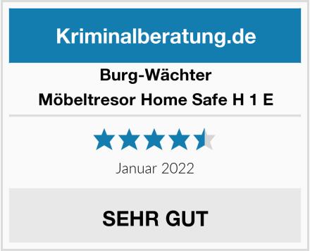 Burg-Wächter Möbeltresor Home Safe H 1 E Test