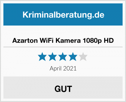 Azarton WiFi Kamera 1080p HD Test