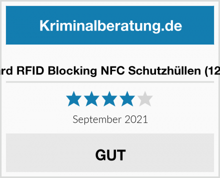 Blockard RFID Blocking NFC Schutzhüllen (12 Stück) Test