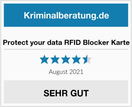 Protect your data RFID Blocker Karte Test