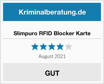 Slimpuro RFID Blocker Karte Test