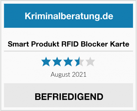 Smart Produkt RFID Blocker Karte Test