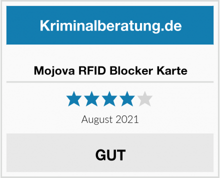 Mojova RFID Blocker Karte Test