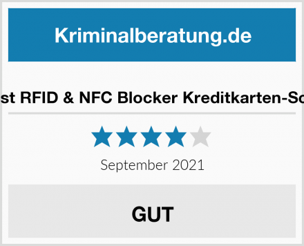 Peoplebest RFID & NFC Blocker Kreditkarten-Schutzhülle Test