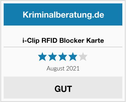 i-Clip RFID Blocker Karte Test