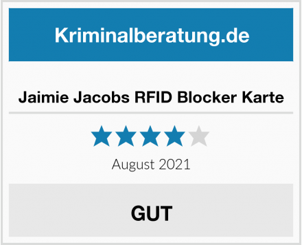Jaimie Jacobs RFID Blocker Karte Test