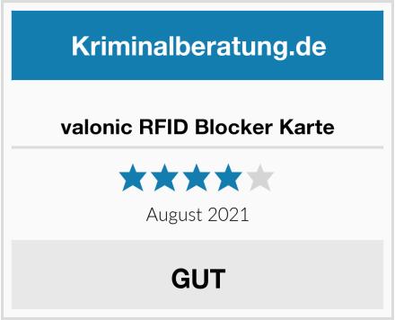 valonic RFID Blocker Karte Test