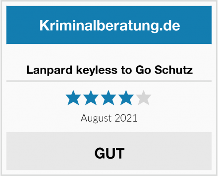 Lanpard keyless to Go Schutz Test