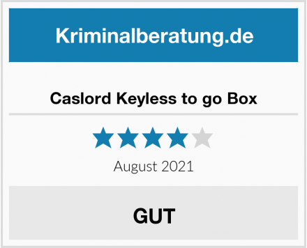 Caslord Keyless to go Box Test