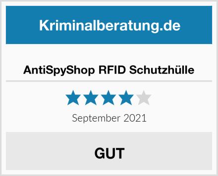 AntiSpyShop RFID Schutzhülle Test