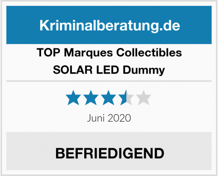 TOP Marques Collectibles SOLAR LED Dummy Test