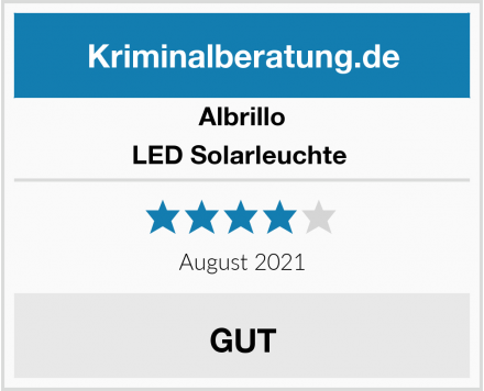 Albrillo LED Solarleuchte  Test