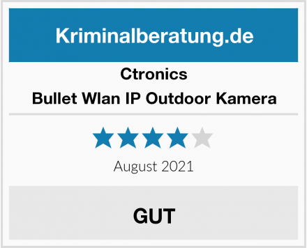 Ctronics Bullet Wlan IP Outdoor Kamera Test