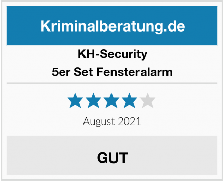 KH-Security 5er Set Fensteralarm Test