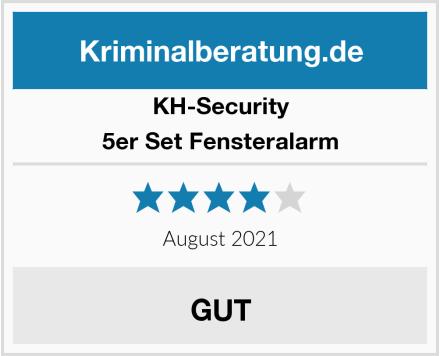 KH-Security 5er Set Fensteralarm Test