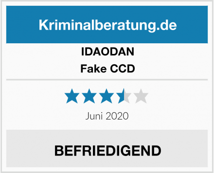 IDAODAN Fake CCD Test