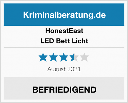 HonestEast LED Bett Licht Test