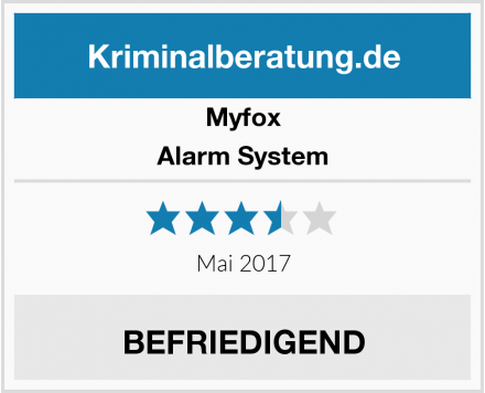 Myfox Alarm System Test
