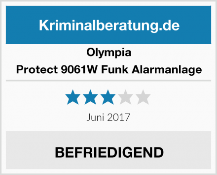 Olympia Protect 9061W Funk Alarmanlage Test