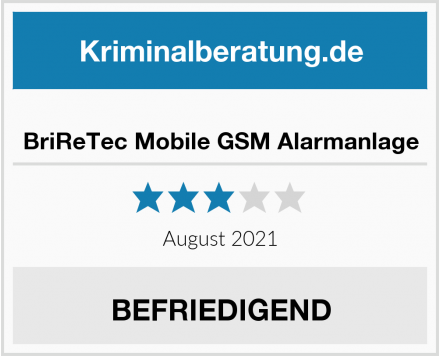 No Name BriReTec Mobile GSM Alarmanlage Test