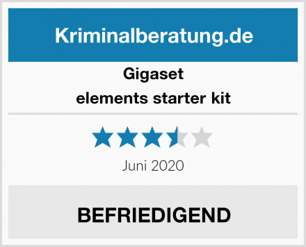 Gigaset elements starter kit Test