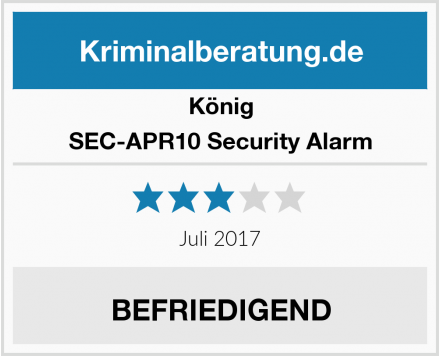 König SEC-APR10 Security Alarm Test