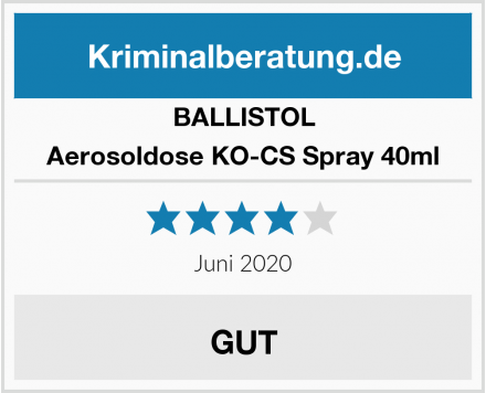 BALLISTOL Aerosoldose KO-CS Spray 40ml Test