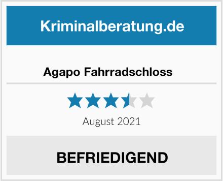No Name Agapo Fahrradschloss   Test