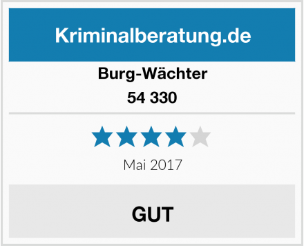 Burg-Wächter 54 330 Test