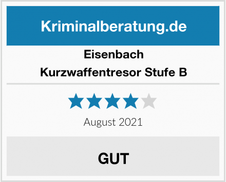 Eisenbach Kurzwaffentresor Stufe B Test