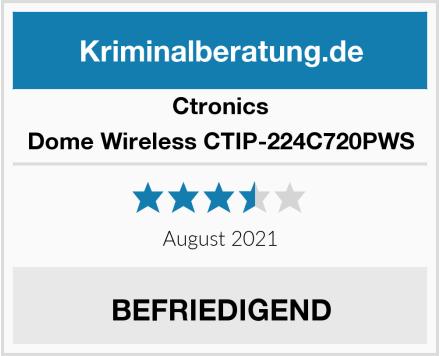 Ctronics Dome Wireless CTIP-224C720PWS Test