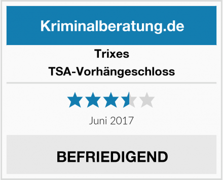 Trixes TSA-Vorhängeschloss Test