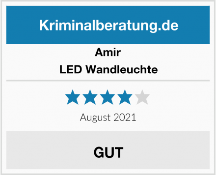 Amir LED Wandleuchte Test