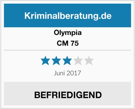 Olympia CM 75 Test