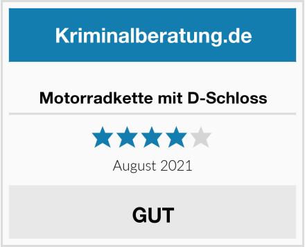 No Name Motorradkette mit D-Schloss Test