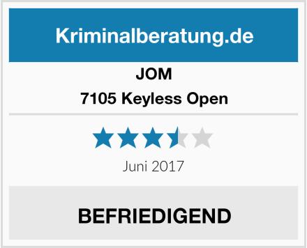 JOM 7105 Keyless Open Test