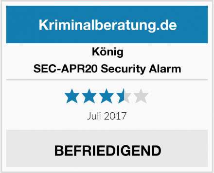 König SEC-APR20 Security Alarm Test