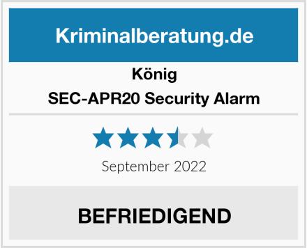 König SEC-APR20 Security Alarm Test