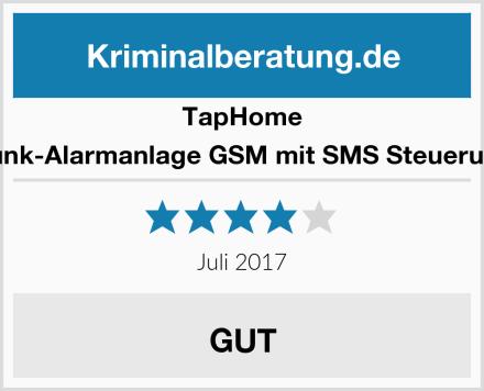 TapHome Funk-Alarmanlage GSM mit SMS Steuerung Test